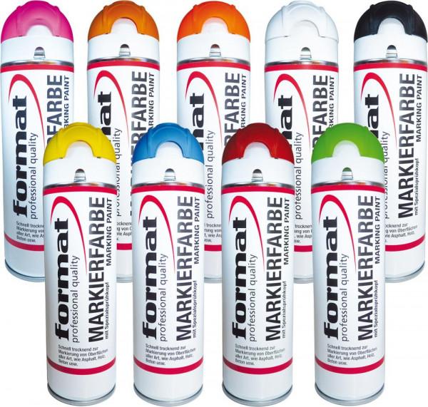 Baustellenmarkierspray Fluo Pink 500ml FORMAT