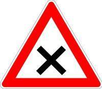 VKZ.102 Dreieck 900mm Kreuzung Vorfahrt rechts
