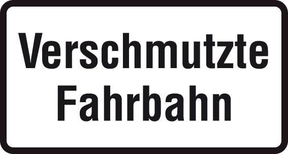 ZZ.1007-35, 231x420mm Verschmutzte Fahrbahn