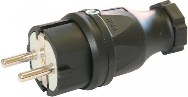 Schutzkontaktstecker,2p+EIP 44 Gummi