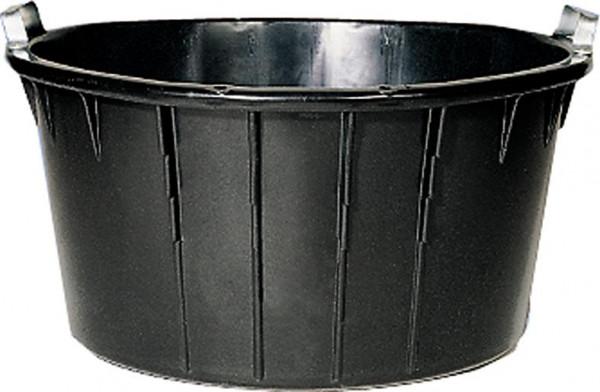 Spezialkübel oval, schwarz 90 L