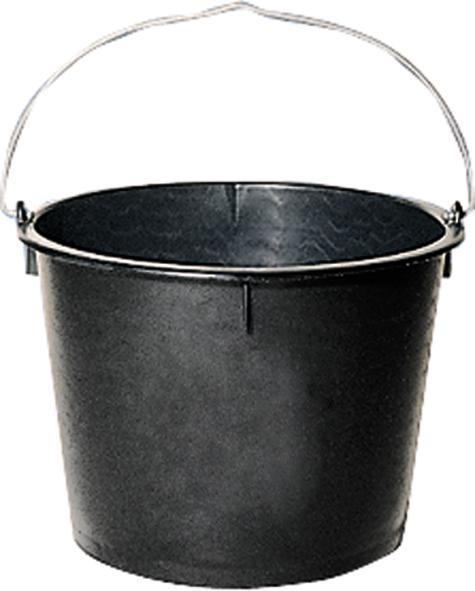 Baueimer Polyeth.-Regen. schwere Ausf schwarz 20 L
