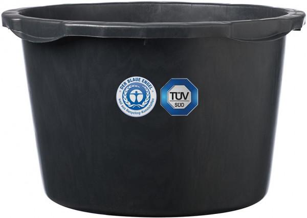 Mörtelkübel schwarz 40 L ohne Bügel