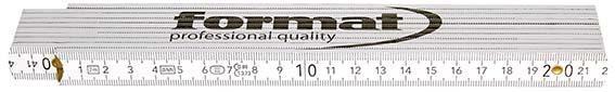 Gliedermaßstab Holz weiß 2mx16mm FORMAT