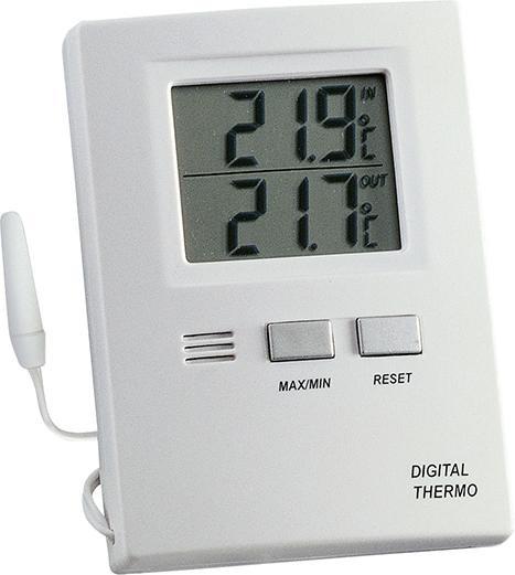 Thermometer Max-Min. Elektr., Kunststoff, weiß