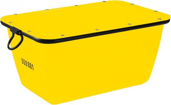 Mörtelkübel 200 L, gelb kranbar