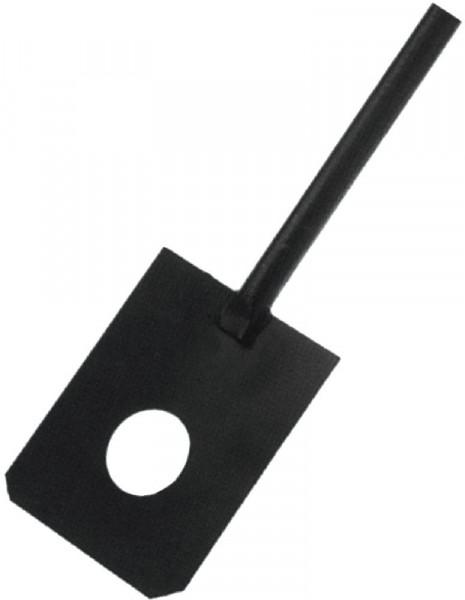 Mörtelspaten schwarz lackGasborhstiel, 180 x 230mm