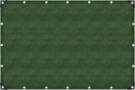 Gewebeplane oliv 2x3m UV-stabilis. Ösen 50 cm