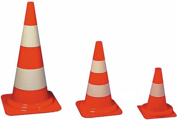 Verkehrsleitkegel PVC orange 320 mm