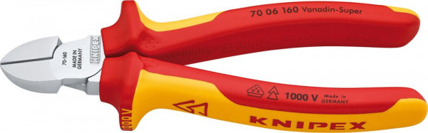 Seitenschneider VDE mit Mehrkomponenten-Griffen 160mm KNIPEX