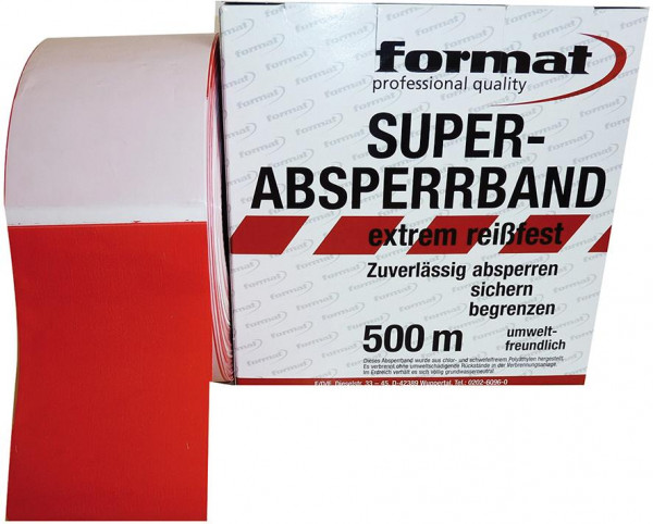 Absperrband rot/weiss 500m x 80mm FORMAT