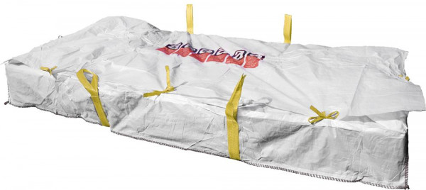 Plattenbag 260x125x30cm, Warndruck Asbest, 1500kg