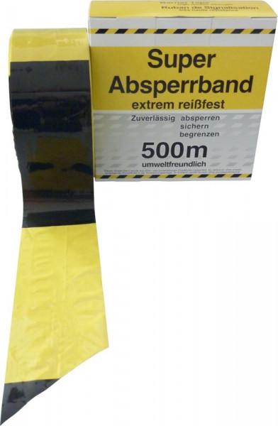 Absperrband 500 m-Rolle gelb/schwarz geblockt