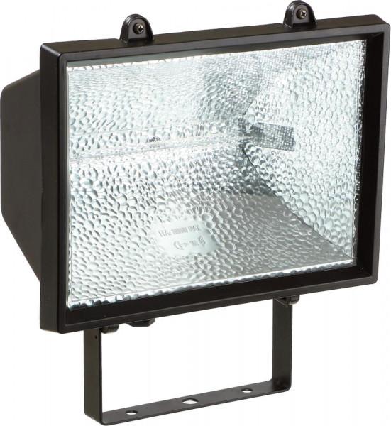 Halogen-Strahler 1000 W mit Leuchtm.,schwarz,IP54