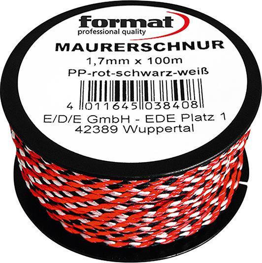 Maurerschnur - PP, 100m, Durchm.: 1,7mm FORMAT