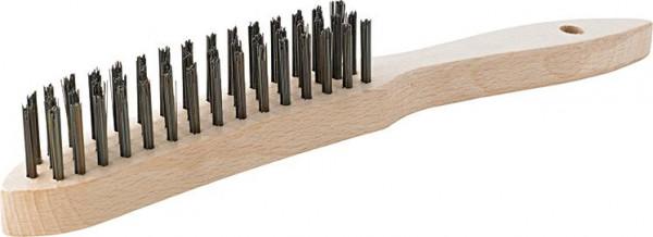 Handdrahtbürste Stahl glatt 6-reihig mm FORMAT