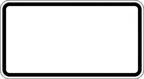 ZZ.blanko, 330x600mm Grund weiß - Rand schwarz
