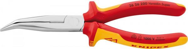 Storchschnabelzange VDE gebogen mit Mehrkomponenten-Griffen 200mm KNIPEX