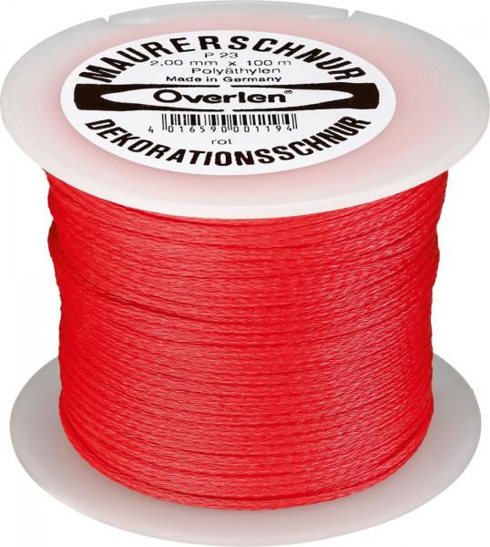 Maurerschnur Polyethylen 2mmx100m rot OVERMANN